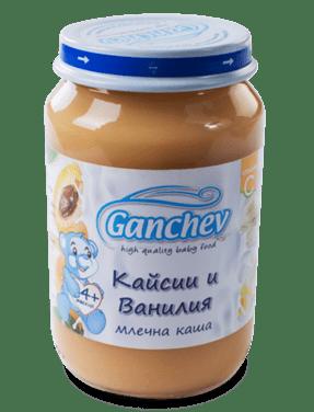 Ганчев Бебешка млечна каша с кайсия и ванилия 190 гр.